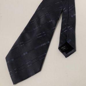 Calvin Klein Slate Blue Plaid 100% Silk Tie